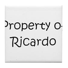 Cute Ricardo Tile Coaster