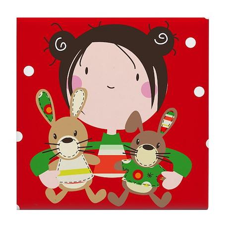 """My Christmas friends"" Tile Coaster"