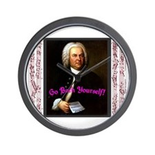 Go Bach Yourself! Wall Clock