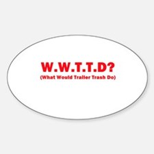 W.W.T.T.D? Oval Decal