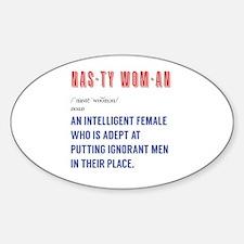Unique Feminist quotes Sticker (Oval)