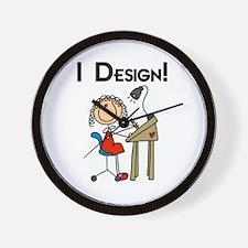 I Design Wall Clock