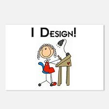 I Design Postcards (Package of 8)