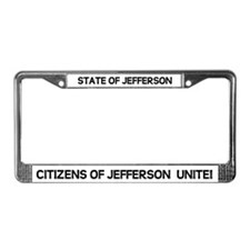 Funny State of jefferson License Plate Frame