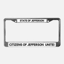 Cool State of jefferson License Plate Frame