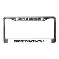 Cute State of jefferson License Plate Frame