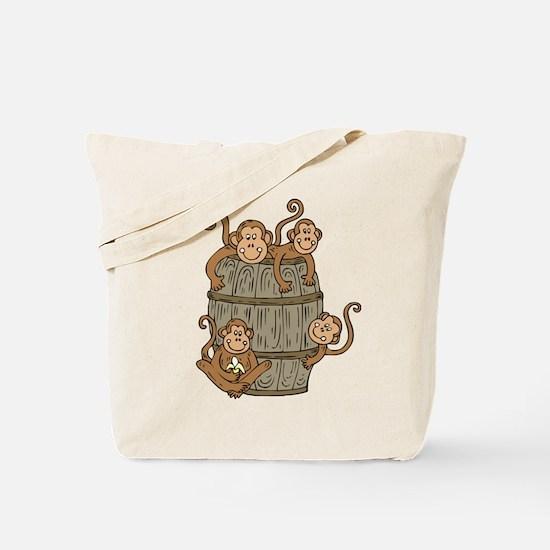 Barrel Monkey Tote Bag