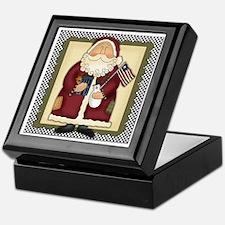 Country Americana Santa Christmas Box