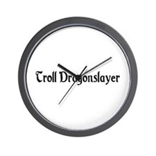 Troll Dragonslayer Wall Clock