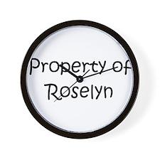 Funny Roselyn Wall Clock