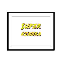 Super kendra Framed Panel Print
