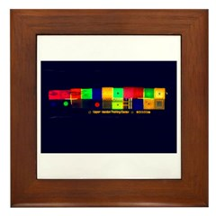 Color-Coded Chaos Framed Tile