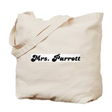 Mrs. Parrott Tote Bag