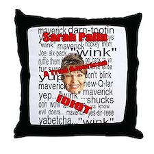 I hate sarah palin Throw Pillow
