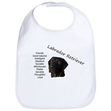 Unique Black labrador Bib