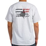 Snowmbobiling Latitude/Longitude Light T-Shirt