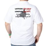 Snowmbobiling Latitude/Longitude Golf Shirt