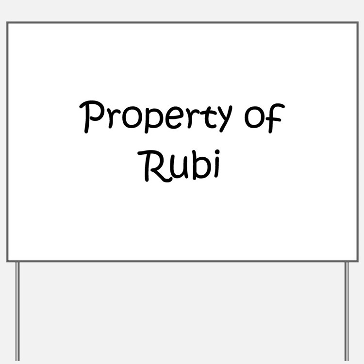 Cute Rubi Yard Sign