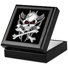 Death's Skull and Crossbones Keepsake Box