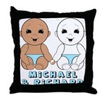 Michael & Richard 8b Throw Pillow