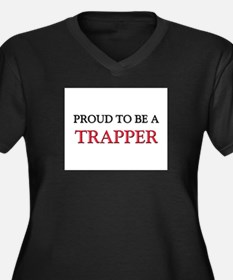 Proud to be a Trapper Women's Plus Size V-Neck Dar