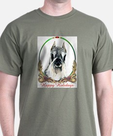 Schnauzer Happy Holidays T-Shirt