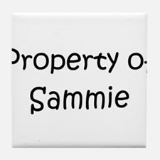 Funny Sammie Tile Coaster