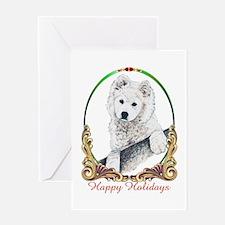 Samoyed Happy Holidays Greeting Card