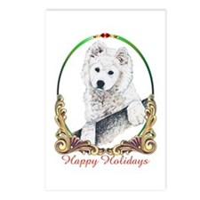 Samoyed Happy Holidays Postcards (Package of 8)