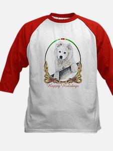 Samoyed Happy Holidays Kids Baseball Jersey