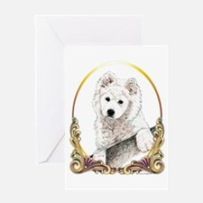 Samoyed Puppy Christmas Greeting Card