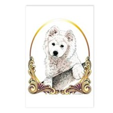 Samoyed Puppy Christmas Postcards (Package of 8)