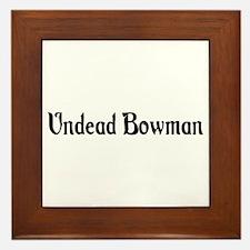 Undead Bowman Framed Tile