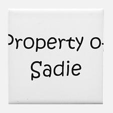 Funny Sadie Tile Coaster