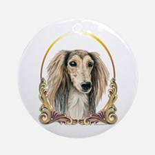 Saluki Dog Christmas Ornament (Round)