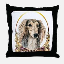 Saluki Dog Christmas Throw Pillow