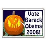 Halloween Pumpkin for Obama Banner