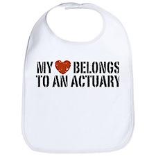 My Heart Belongs to an Actuary Bib