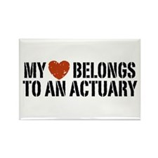 My Heart Belongs to an Actuary Rectangle Magnet