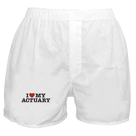 I Love My Actuary Boxer Shorts