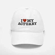 I Love My Actuary Baseball Baseball Cap