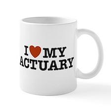 I Love My Actuary Mug