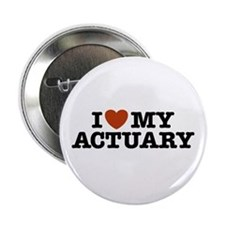 """I Love My Actuary 2.25"""" Button"""