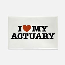 I Love My Actuary Rectangle Magnet