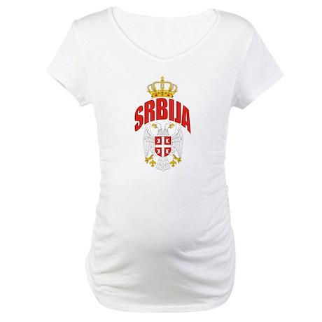 Serbia Maternity T-Shirt