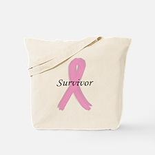 PINK RIBBON SURVIVOR (BREAST Tote Bag
