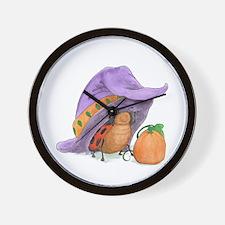 Halloween Ladybug's Wall Clock