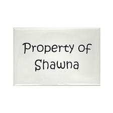 Unique Shawna Rectangle Magnet