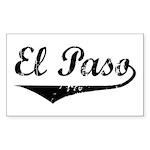 El Paso Rectangle Sticker