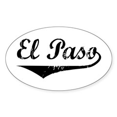 El Paso Oval Decal